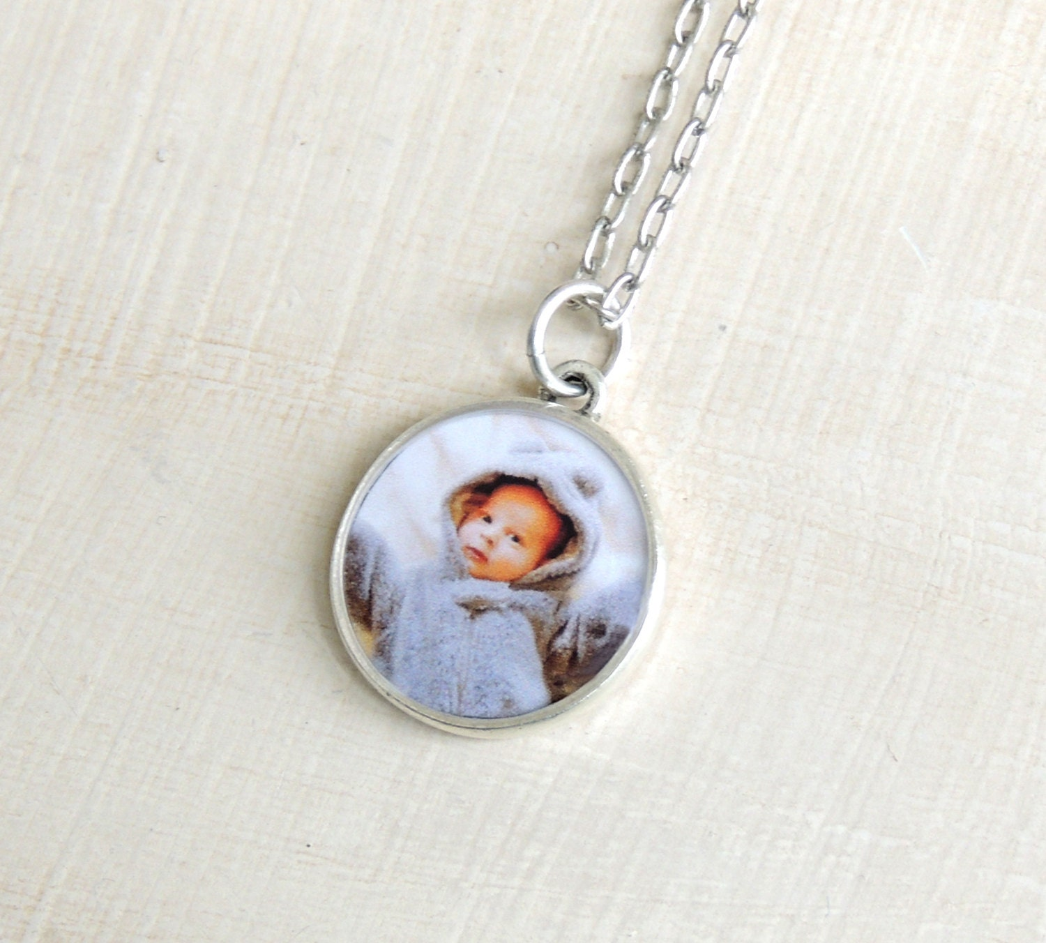 Custom picture necklace keepsake photo jewelry mom photo zoom aloadofball Image collections