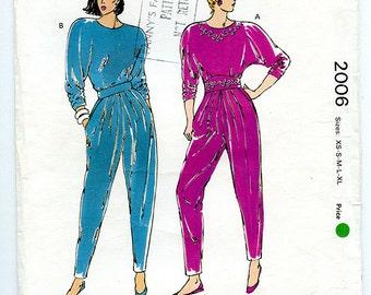 Vintage 90s Kwik Sew Pattern 2006 Women's Top and Pants for Stretch Knits - UNCUT Multi Size XS S M L XL