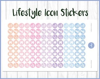 Gym Stickers | Fitness Stickers | Workout Stickers | Planner Stickers | Journal Stickers | Diary Stickers - Erin Condren, The Happy Planner