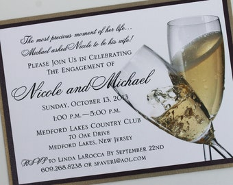 Cheers to Us Formal Party Invitation