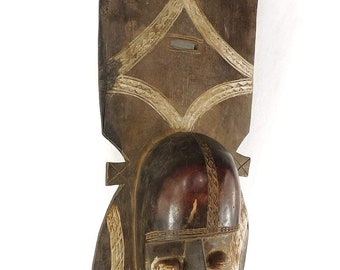 Djimini Mask Do Society Two Faced Ivory Coast African Art 119410