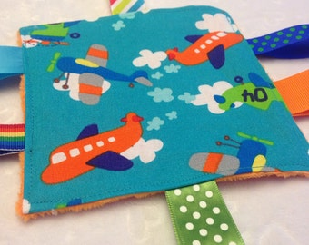 Airplane Baby  Crinkle Toy Ready To Ship