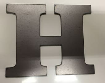 """2002- 10"""" Tall Block Metal Letter or Number"""
