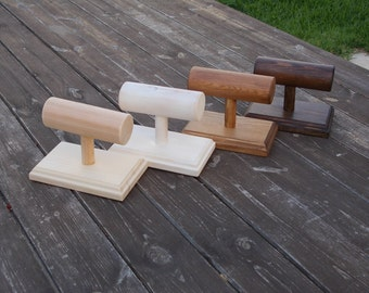 Single bar Wood Jewelry Display Wood Bracelet Display Bracelet Stand Bracelet Holder Jewelry Stand