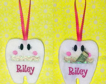 Personalized Tooth Fairy Pouch/Pillow