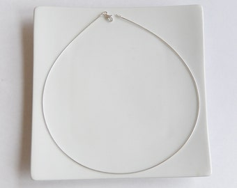 16 inch 1mm Sterling Silver Omega necklace
