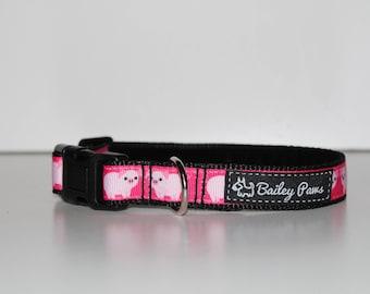 Peggy Pig Dog Collar