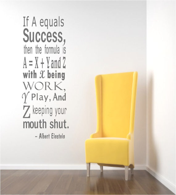 Einstein Success Quote Wall Decals Inspirational Wall Quote