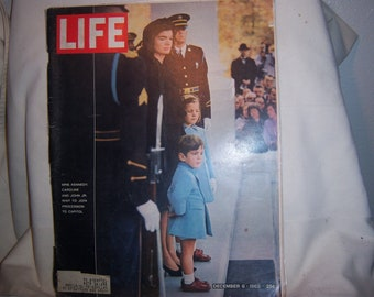 December 6, 1963 Life Magazine Jacqueline Kennedy Caroline Kennedy JFK Funeral