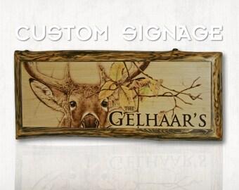 Custom/Personalized Wood Burned Sign