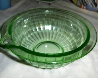 green ribbed batter bowl