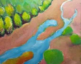 Columbia River Slough 3 original Oregon landscape oil painting
