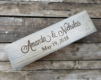Weathered Gray wooden wedding wine box ceremony - unity alternative box - wedding time capsule memory box - love letter box wood anniversary
