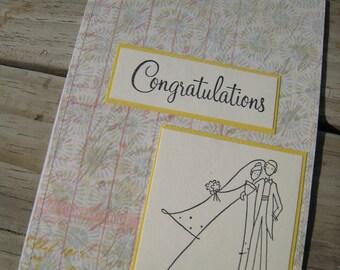 Wedding Card, Wedding Congratulations Card, 5x7 Wedding Card