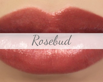 """Sheer Lipstick Sample - """"Rosebud"""" natural red lip color - vegan"""