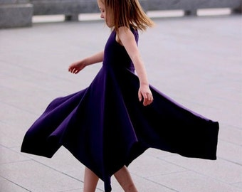 Girls Purple Sleeveless Maxi Dress, Girls Purple Maxi Dresses, Purple Maxi Dresses, Purple Dress - Sizes 4/5, 6/6x, 7/8, 10/12 Ready to Ship