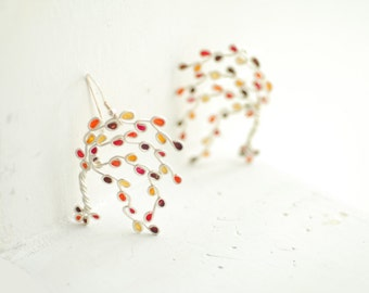 Ready to Ship, Branch Earrings, Maple Tree Jewelry, Japanese Maple, Statement Earrings