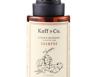 Ginger Rhizome & Kaffir Lime Shampoo  (For oily scalp or hair loss problem) 300 ml