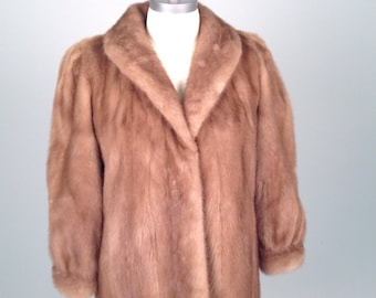 Vintage, Evans mink fur coat, chestnut color, Evans label
