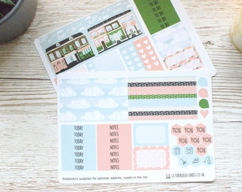 Blossom ECLP Weekly Kit; Erin Condren Vertical Compatible; Vinyl Matt Planner Stickers; Mini Kit; House Weekly Kit; Green Kit