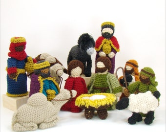 Crochet Pattern - Nativity Crochet Pattern - Creche Pattern - Christmas Pattern - Heirloom Crochet Pattern