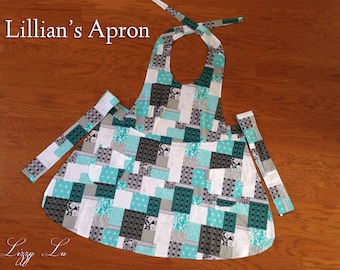 Lillian's Apron, Vintage Style, Adult and Child Sizes Available
