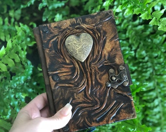 Leather Journal, Steampunk Journal, Travel Journal, Leather Notebook, Leather Diary