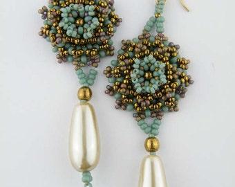 Beading Tutorial - Romantic Rosette Earrings