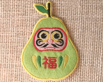 Fruits Daruma Patch - Pear