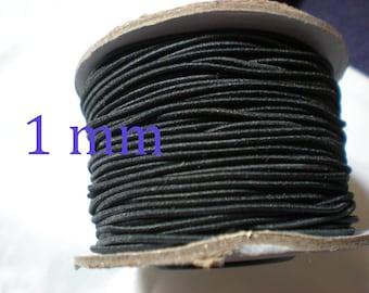 3 m of fabric black 1 mm elastic cord