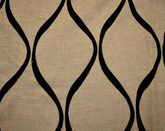 REMNANT Chocolate Flocked Fabric 56 inches x 1.5 yards