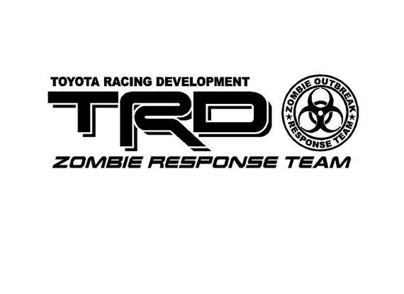 2 truck car decal trd zombie response team vinyl decal outdoor vinyl pair