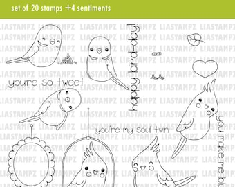 Digital stamp flowers set onies deffodilspoppiesly of digital stamp budgies and cockatiels digi rrots clip art pet digital stamp cute budgie stamp cute cockatiel digital stamp liastampz altavistaventures Image collections