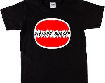 Vicious Burger T-shirt - Sid Vicious, Punk, Various Sizes/Colours