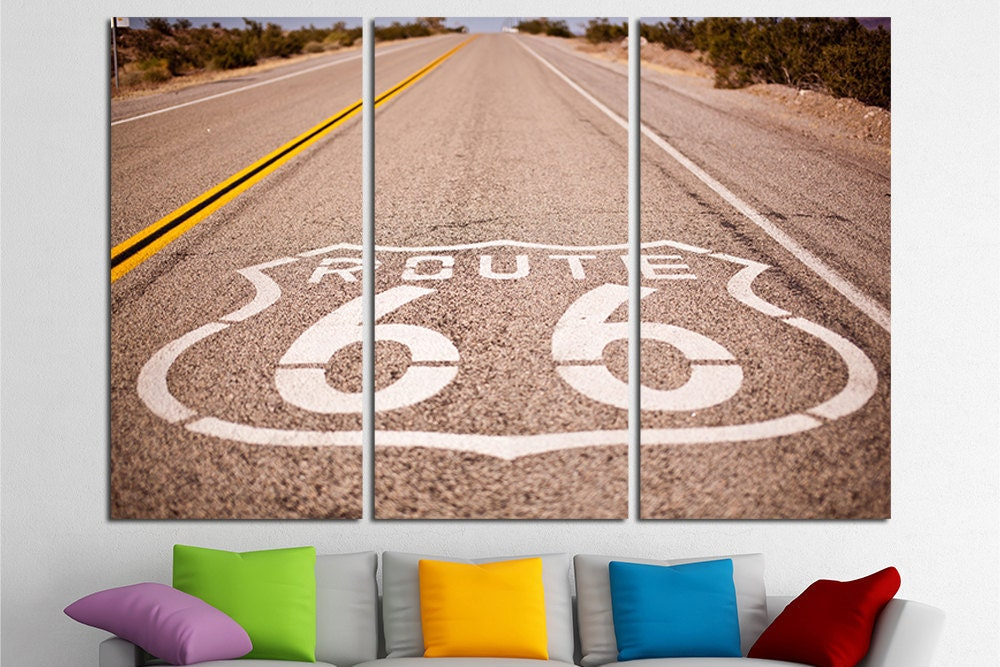 Route 66 Large Canvas Wall Art Will
