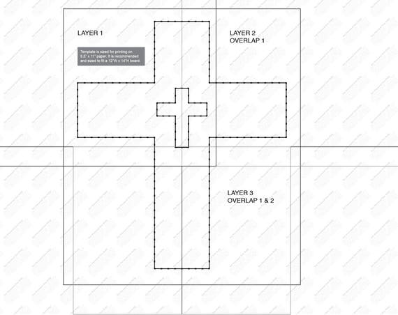 cross string art template. Black Bedroom Furniture Sets. Home Design Ideas