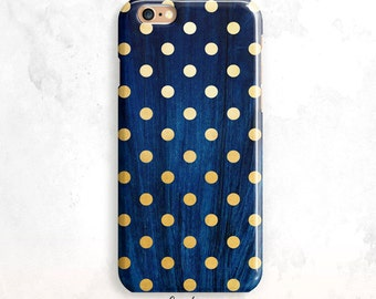 iPhone 8 Case, Gold Dots iPhone 5S Case, iPhone SE Case, iPhone 6 Plus, iPhone 7 Case, Polka Dots iPhone 6 Case, Gold Dots iPhone 6S, 7 Plus