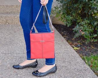 Brooke Crossbody bag, Purse, Bag, Red, Gift, Evening Bag, shoulder bag, Bridesmade, Gift