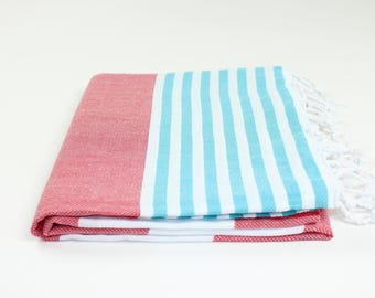 Turkish Towel Striped Peshtemal Fouta Bath Beach Spa Yoga Hammam Gym Pool Towel Wrap Pareo Sarong Authentic Premium Quality