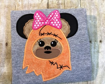 Ewok Personalized Mouse Ears Shirt