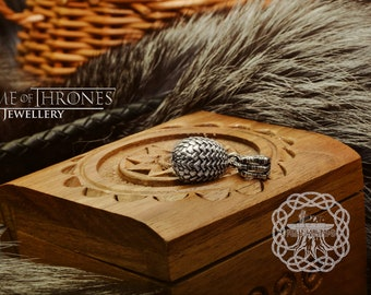 Dragon Egg Pendant Game Of Thrones Sterling Silver Necklace Khalessi Mother of Dragons Gift GOT Jewelry Dragons Amulet