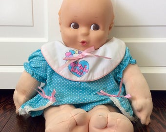 "1993 Jesco Giggling 16"" Kewpie Plush Doll, Vintage Kewpie Dolls, Jesco Kewpie Doll, Large Kewpie Doll, Talking Kewpie Doll, Vintage Dolls"