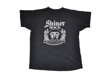 Vintage 1990s Shiner Bock Ram Tee // M // Alcohol // Spoetzl // 90s // Party // Beer // GABF // Germany // Lager // Coors // Budweiser //