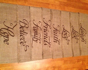 "Burlap Placemats 14"" x 18"" - set of 8 Holiday decorating Home decor Housewarming gift Wedding gift Bridal shower gift"