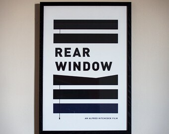 Rear Window Minimal Movie Poster - Limited Screenprint