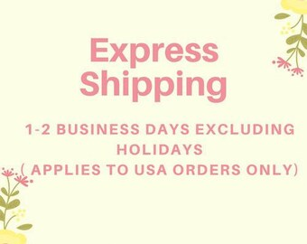 Express shipping 1-2 business days.