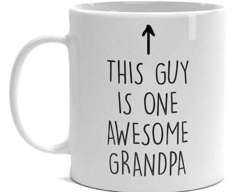 Proud Grandpa Mug - One Awesome Grandpa - Grandpa Gift