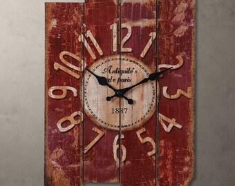 vintage wall clock modern design digital vintage large home decorative 30cm*40cm