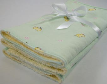 New Baby Layette Gift - burp cloths - layette gift - baby shower - baby gift - green baby gift - new baby - baby nursery - duckling gift
