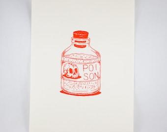 Poison Bottle Riso Print